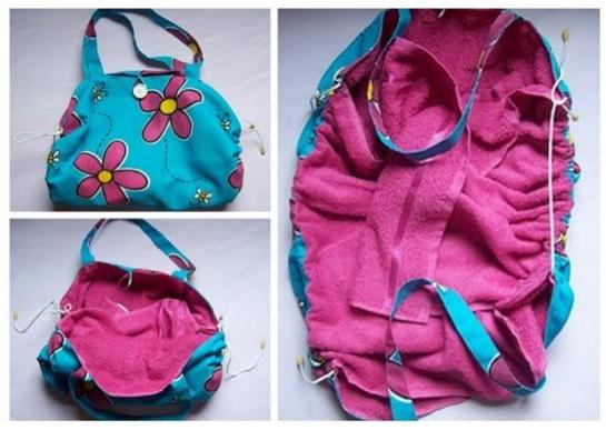 Bolsa Minuto Passo A Passo : Transforme toalhas velhas em bolsas com t?cnica upcycle