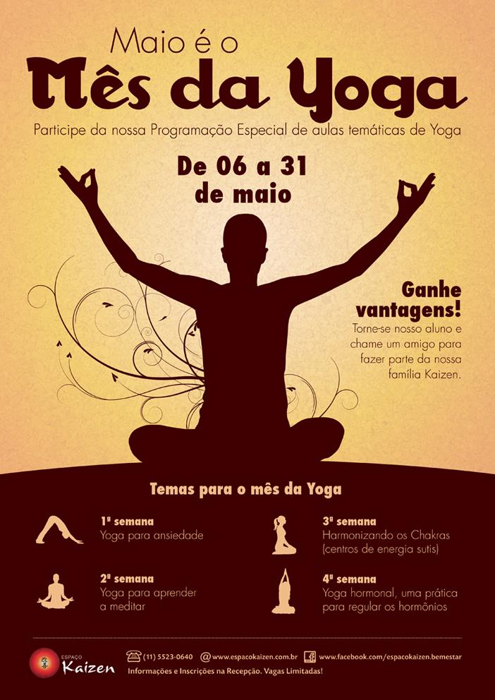 banner promocional mês da Yoga no espaço Kaizen
