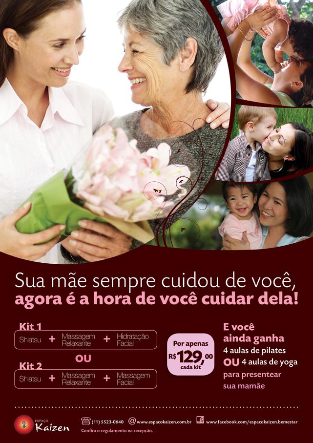 Dia das mães 2013 - kit de bem-estar em promoção - espaço Kaizen