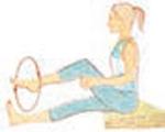 yoga - ilustração de alongamento para joelhos