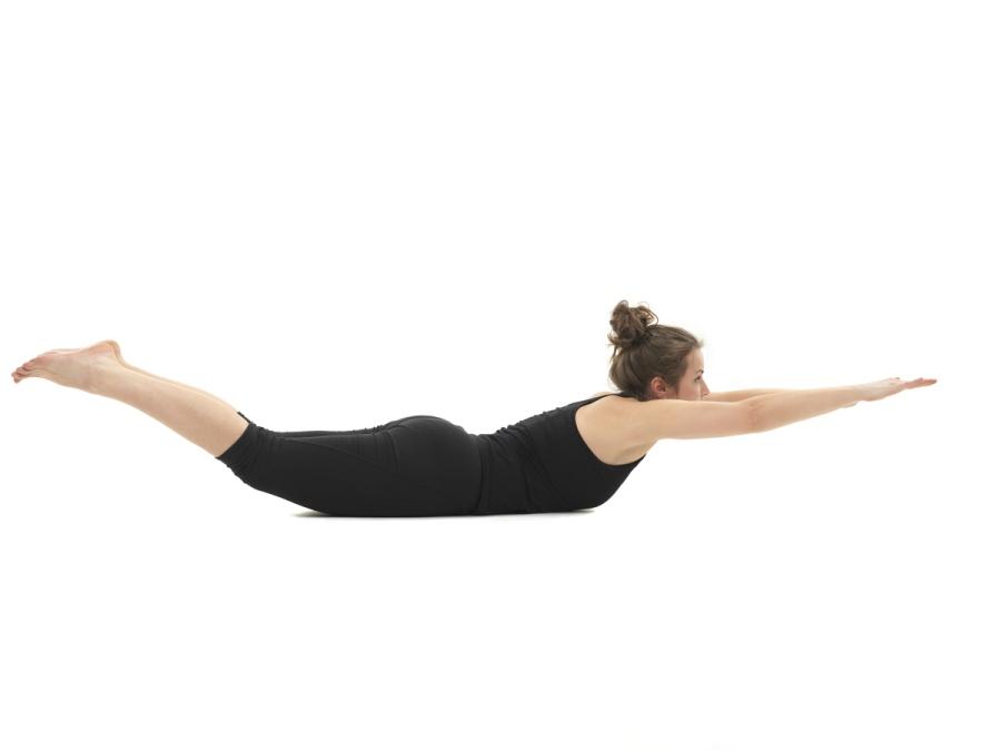 Salabhasana de yoga para corredores