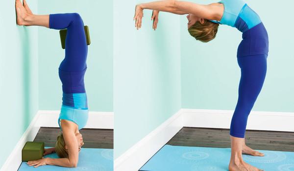Incline-se no Yoga de uma postura de pé