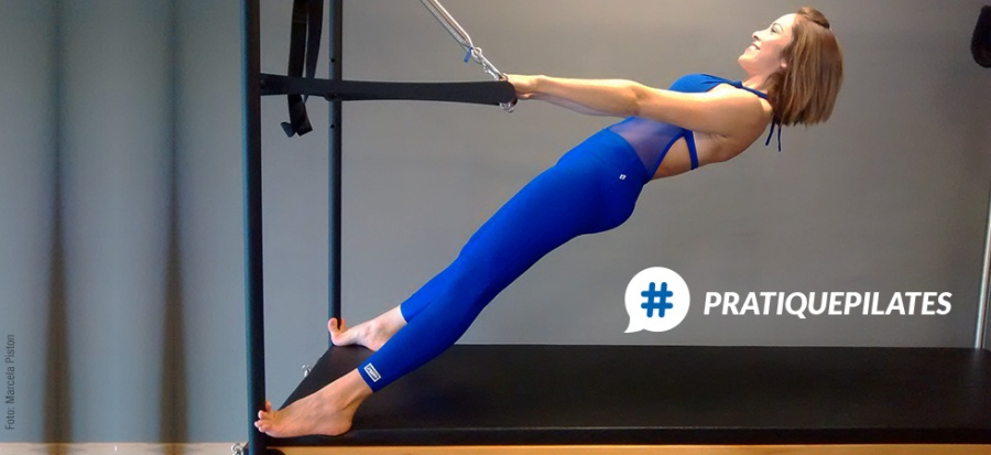 Pratique Pilates Ponte em neutra no Cadillac