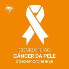 cartaz laranja com símbolo da causa em branco